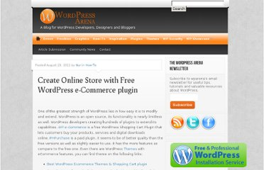 http://wparena.com/how-to/create-online-store-with-free-wordpress-e-commerce-plugin/