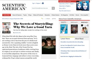 http://www.scientificamerican.com/article.cfm?id=the-secrets-of-storytelling