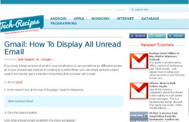 http://www.tech-recipes.com/rx/2862/gmail_how_to_display_all_unread_email/