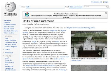 http://en.wikipedia.org/wiki/Units_of_measurement