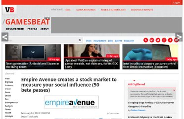 http://venturebeat.com/2010/02/24/empire-avenue-creates-a-stock-market-to-measure-your-social-influence/
