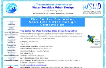 http://www.wsud2012.com/highlights.asp?TheCentreForWaterSensitiveCitiesDesignCompetition