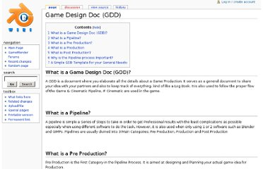 http://www.wiki.gameblender.org/index.php?title=Game_Design_Doc_%28GDD%29
