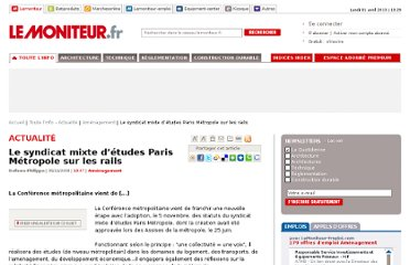 http://www.lemoniteur.fr/133-amenagement/article/actualite/580944-le-syndicat-mixte-d-etudes-paris-metropole-sur-les-rails