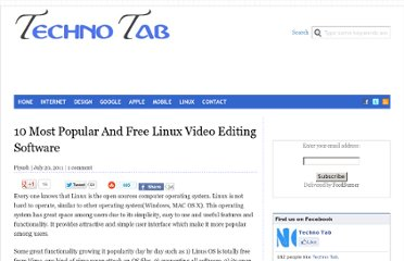 http://technotab.com/free-linux-video-editing-software/