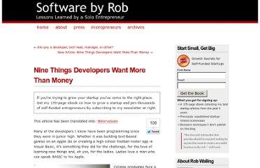 http://www.softwarebyrob.com/2006/10/31/nine-things-developers-want-more-than-money/