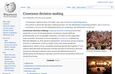 http://en.wikipedia.org/wiki/Consensus_decision-making