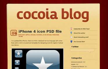 http://blog.cocoia.com/2010/iphone-4-icon-psd-file/