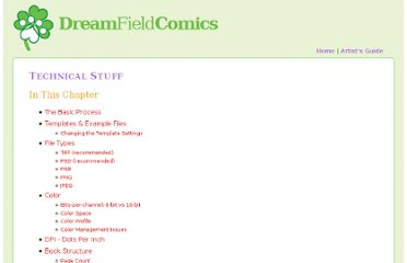 http://dreamfieldcomics.com/howto/technical.php#templatesandexamplefiles