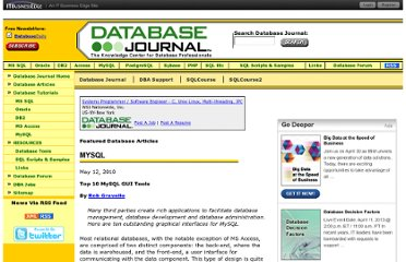 http://www.databasejournal.com/features/mysql/article.php/3880961/Top-10-MySQL-GUI-Tools.htm