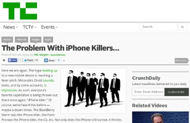 http://techcrunch.com/2009/10/26/the-problem-with-iphone-killers/