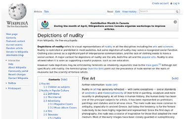 http://en.wikipedia.org/wiki/Depictions_of_nudity