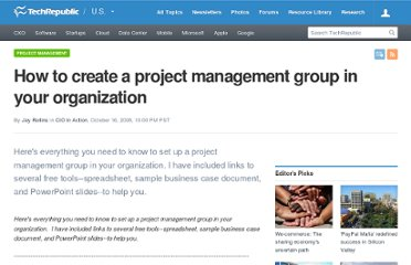http://www.techrepublic.com/blog/cio-for-hire/how-to-create-a-project-management-group-in-your-organization/126
