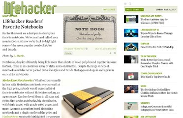 http://lifehacker.com/5686340/lifehacker-readers-favorite-notebooks