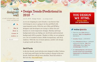 http://webdesignerwall.com/trends/design-trends-predictions-in-2010