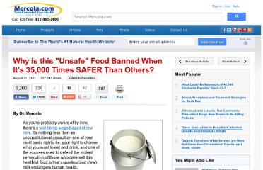 http://articles.mercola.com/sites/articles/archive/2011/08/31/us-government-data-proves-that-raw-milk-is-safe.aspx