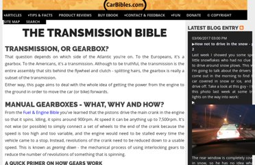 http://www.carbibles.com/transmission_bible.html