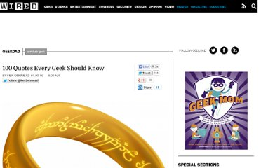 http://www.wired.com/geekdad/2010/01/100-quotes-every-geek-should-know/