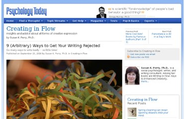http://www.psychologytoday.com/blog/creating-in-flow/201009/9-arbitrary-ways-get-your-writing-rejected