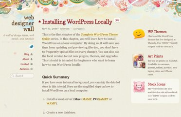 http://webdesignerwall.com/tutorials/installing-wordpress-locally