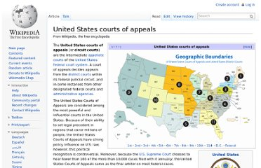 http://en.wikipedia.org/wiki/United_States_courts_of_appeals