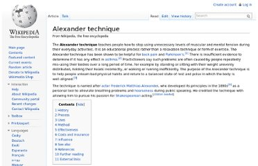 http://en.wikipedia.org/wiki/Alexander_technique
