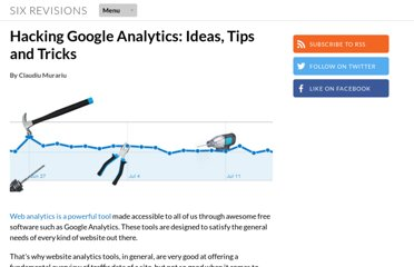 http://sixrevisions.com/web-development/hacking-google-analytics-ideas-tips-and-tricks/