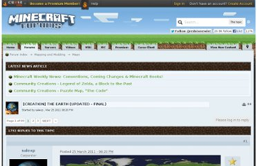 http://www.minecraftforum.net/topic/224048-creation-the-earth-updated-final/