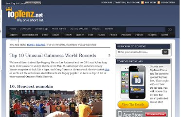 http://www.toptenz.net/top-10-unusual-guinness-world-records.php