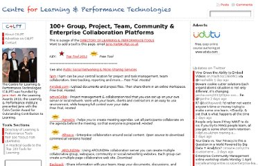 http://c4lpt.co.uk/directory-of-learning-performance-tools/collaboration-spaces/