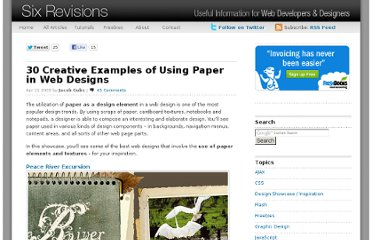 http://sixrevisions.com/design-showcase-inspiration/30-creative-examples-of-using-paper-in-web-designs/