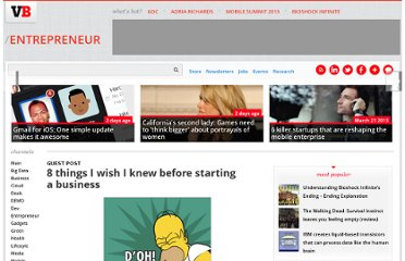 http://venturebeat.com/2010/08/19/8-things-i-wish-i-knew-before-starting-a-business/