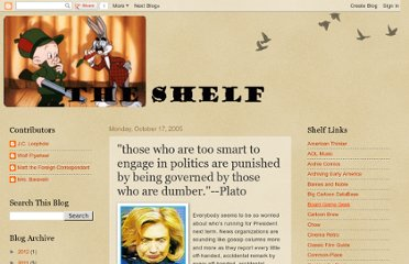 http://randomshelf.blogspot.com/2005/10/those-who-are-too-smart-to-engage-in.html