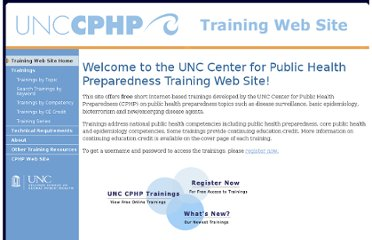 http://cphp.sph.unc.edu/training/index.php