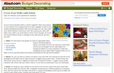 http://budgetdecorating.about.com/od/littlechangesbigstyle/a/fabric-walls.htm