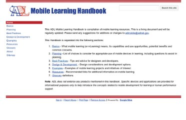 https://sites.google.com/a/adlnet.gov/mobile-learning-guide/home