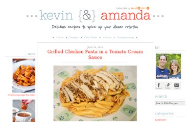 http://www.kevinandamanda.com/recipes/dinner/grilled-chicken-pasta-in-a-tomato-cream-sauce.html