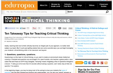 http://www.edutopia.org/stw-kipp-critical-thinking-10-tips-for-teaching