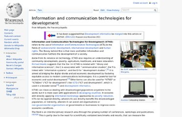 http://en.wikipedia.org/wiki/Information_and_communication_technologies_for_development