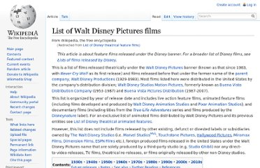 http://en.wikipedia.org/wiki/List_of_Disney_theatrical_feature_films
