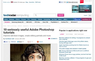 http://www.techradar.com/news/software/applications/10-seriously-useful-adobe-photoshop-tutorials-514380