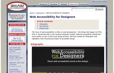 http://webaim.org/resources/designers/