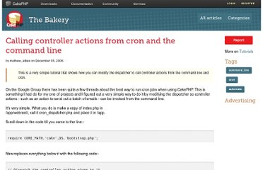 http://bakery.cakephp.org/articles/mathew_attlee/2006/12/05/calling-controller-actions-from-cron-and-the-command-line