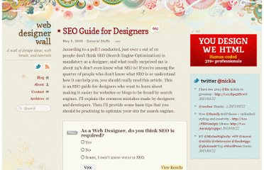 http://webdesignerwall.com/general/seo-guide-for-designers