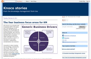 http://www.nickmilton.com/2011/02/four-business-focus-areas-for-km.html