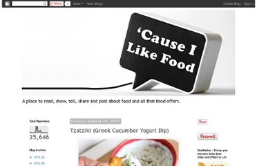 http://causeilikefood.blogspot.com/2011/08/tzatziki-greek-cucumber-yogurt-dip.html