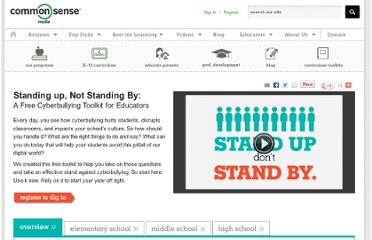 http://www.commonsensemedia.org/educators/cyberbullying-toolkit