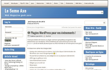 http://www.5axe.com/blog/2010/06/03/plugins-wordpress-pour-vos-evenements/