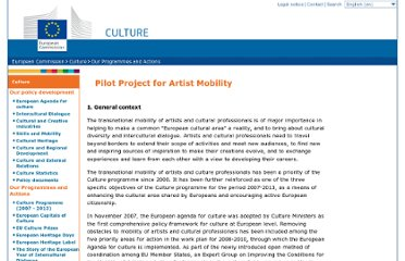 http://ec.europa.eu/culture/our-programmes-and-actions/artist-mobility_en.htm