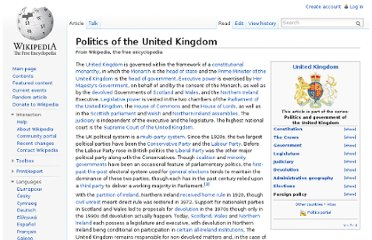 http://en.wikipedia.org/wiki/Politics_of_the_United_Kingdom